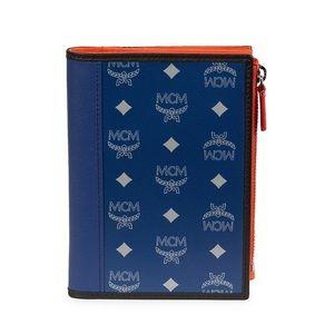 MCM Monogram Leather Passport Holder